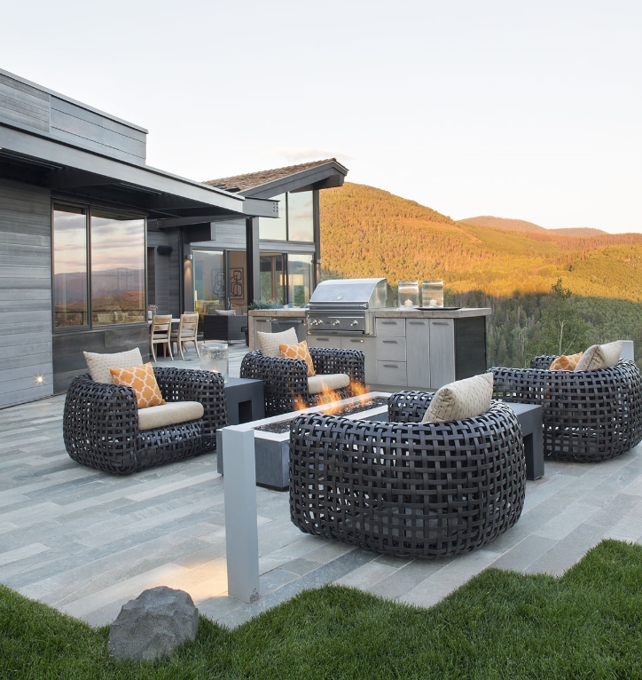 a modern home in a Vail community